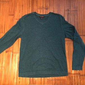 🍌 Banana Republic cotton turquoise v-neck sweater
